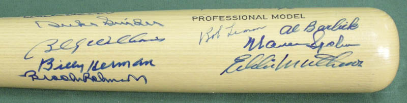 Image 4 for Hall Of Fame Baseball - Baseball Bat Signed with co-signers - HFSID 137197