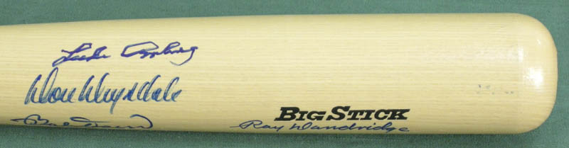 Image 5 for Hall Of Fame Baseball - Baseball Bat Signed with co-signers - HFSID 137197