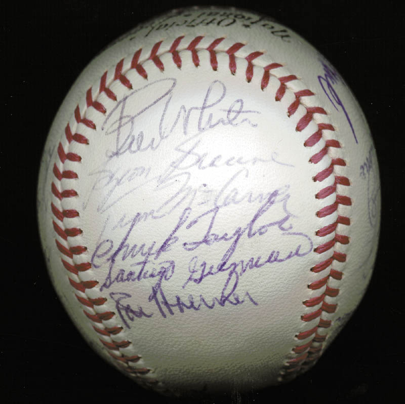 Image 3 for The St. Louis Cardinals - Inscribed Baseball Signed Circa 1969 with co-signers - HFSID 137227