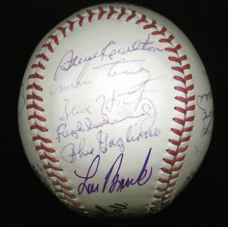 Image 6 for The St. Louis Cardinals - Inscribed Baseball Signed Circa 1969 with co-signers - HFSID 137227