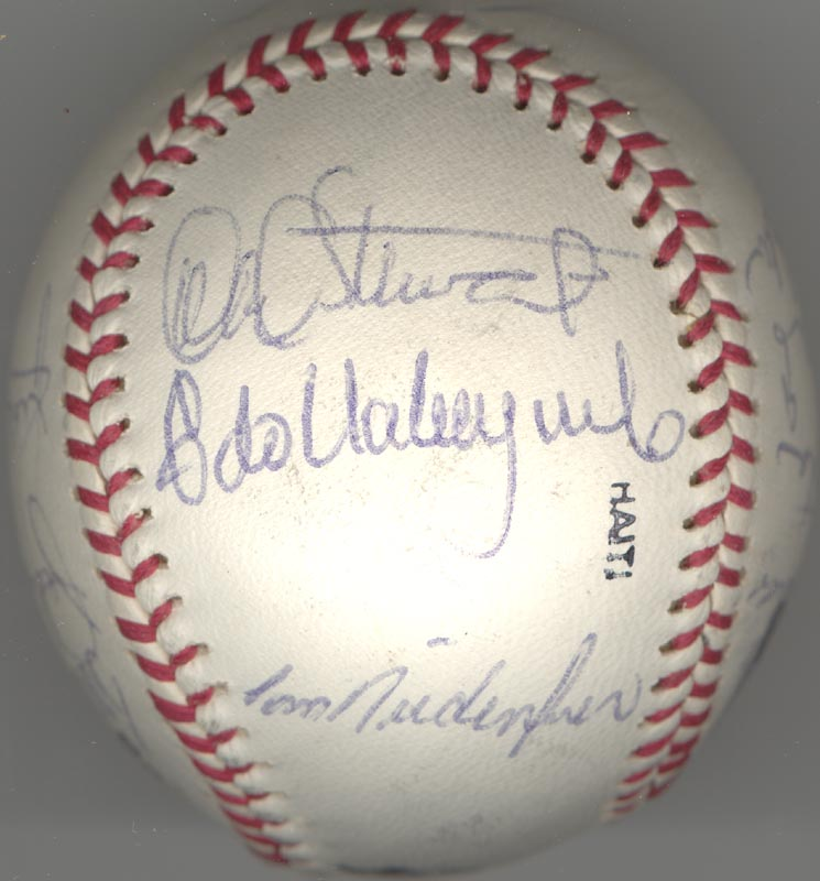 Image 3 for The Los Angeles Dodgers - Autographed Signed Baseball Circa 1982 with co-signers - HFSID 137249
