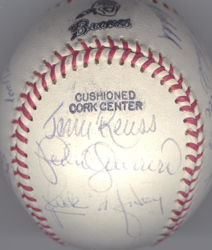 Image 4 for The Los Angeles Dodgers - Autographed Signed Baseball Circa 1982 with co-signers - HFSID 137249