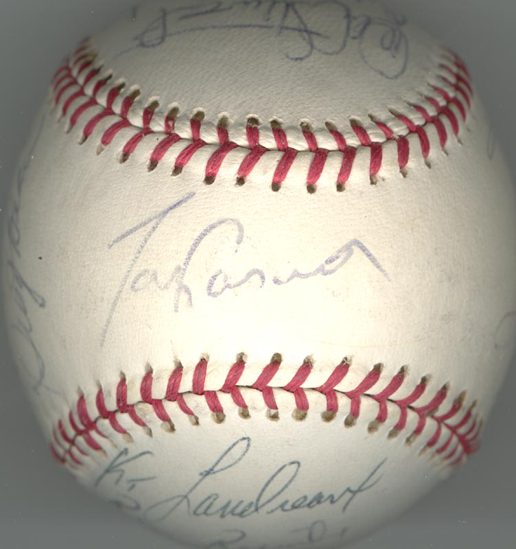 Image 5 for The Los Angeles Dodgers - Autographed Signed Baseball Circa 1982 with co-signers - HFSID 137249