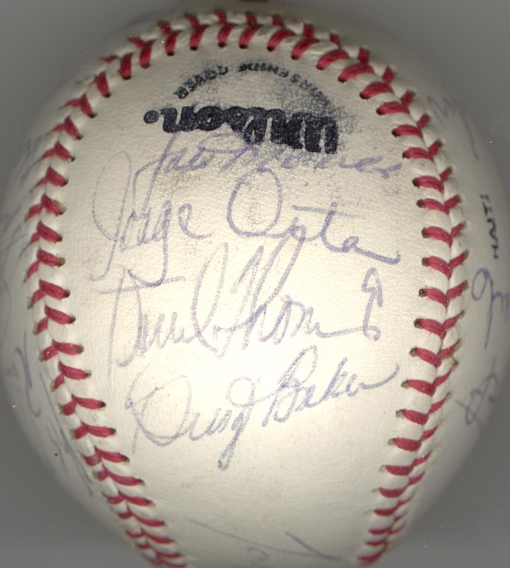 Image 6 for The Los Angeles Dodgers - Autographed Signed Baseball Circa 1982 with co-signers - HFSID 137249