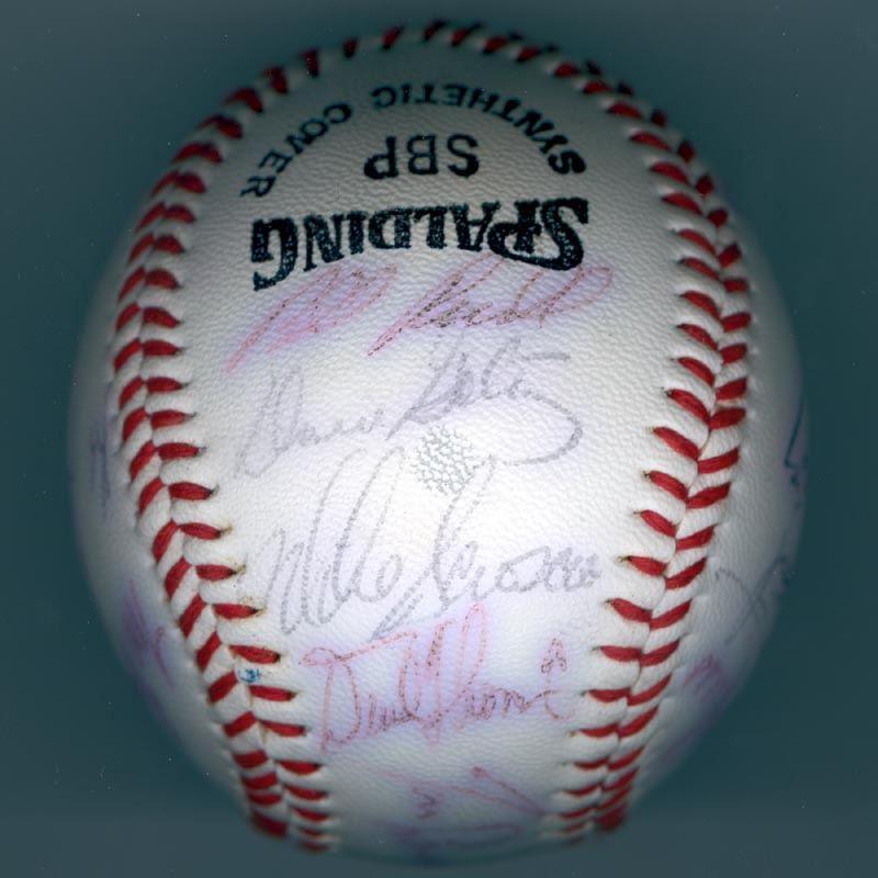 Image 3 for The Los Angeles Dodgers - Autographed Signed Baseball with co-signers - HFSID 137251