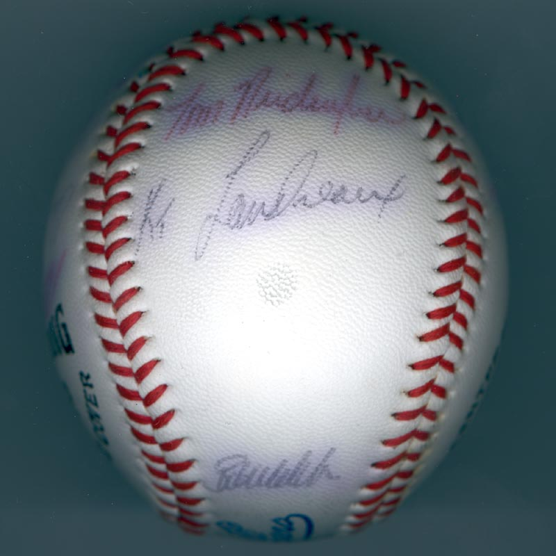 Image 6 for The Los Angeles Dodgers - Autographed Signed Baseball with co-signers - HFSID 137251