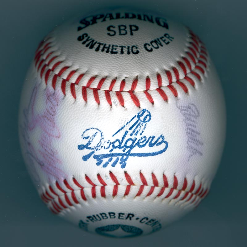 Image 7 for The Los Angeles Dodgers - Autographed Signed Baseball with co-signers - HFSID 137251