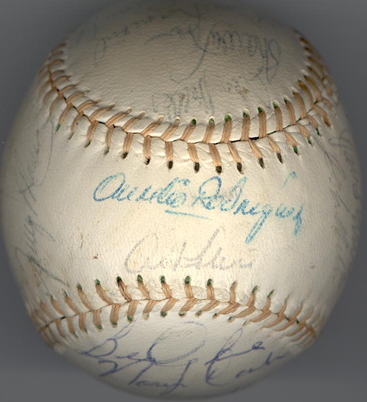 Image 1 for The Detroit Tigers - Autographed Signed Baseball with co-signers - HFSID 137256