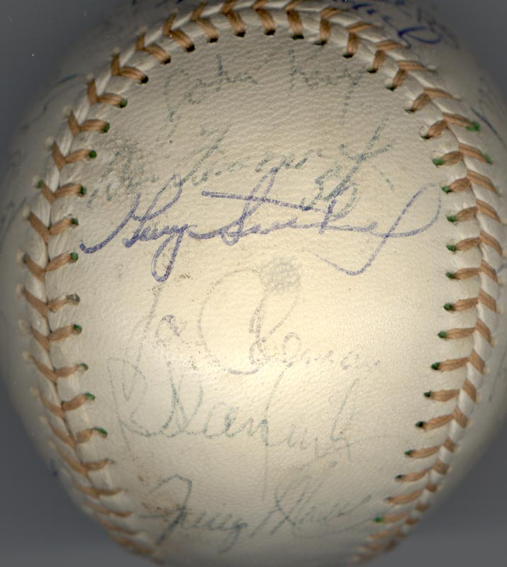 Image 3 for The Detroit Tigers - Autographed Signed Baseball with co-signers - HFSID 137256