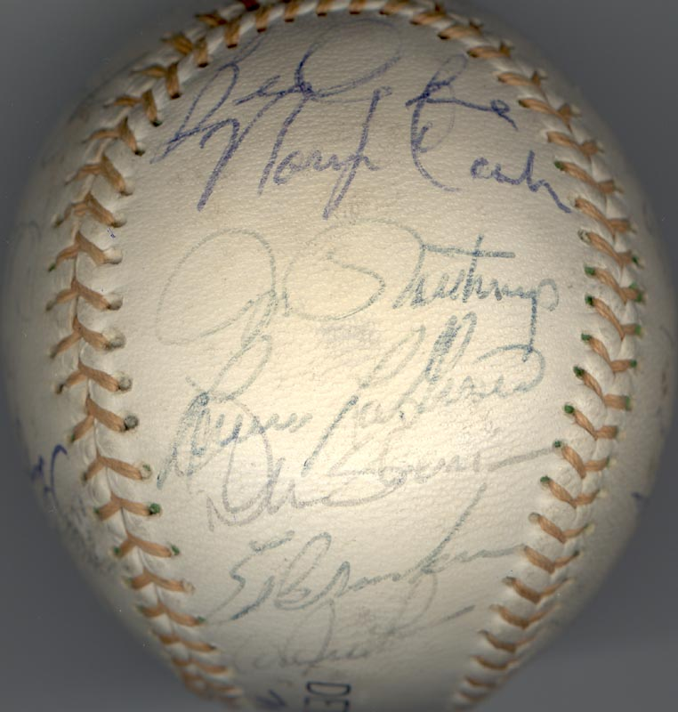 Image 5 for The Detroit Tigers - Autographed Signed Baseball with co-signers - HFSID 137256