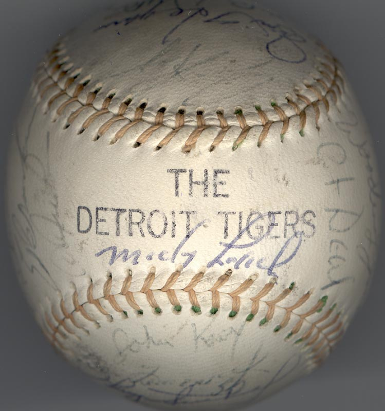 Image 7 for The Detroit Tigers - Autographed Signed Baseball with co-signers - HFSID 137256