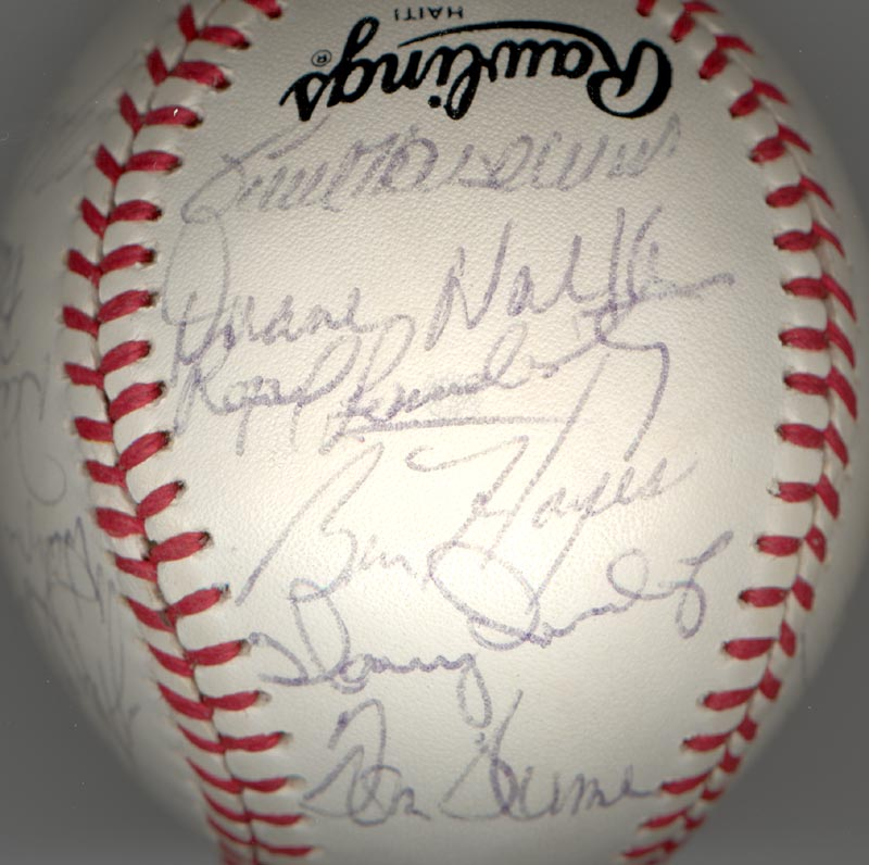 Image 4 for Cincinnati Reds - Autographed Signed Baseball Circa 1979 with co-signers - HFSID 137265