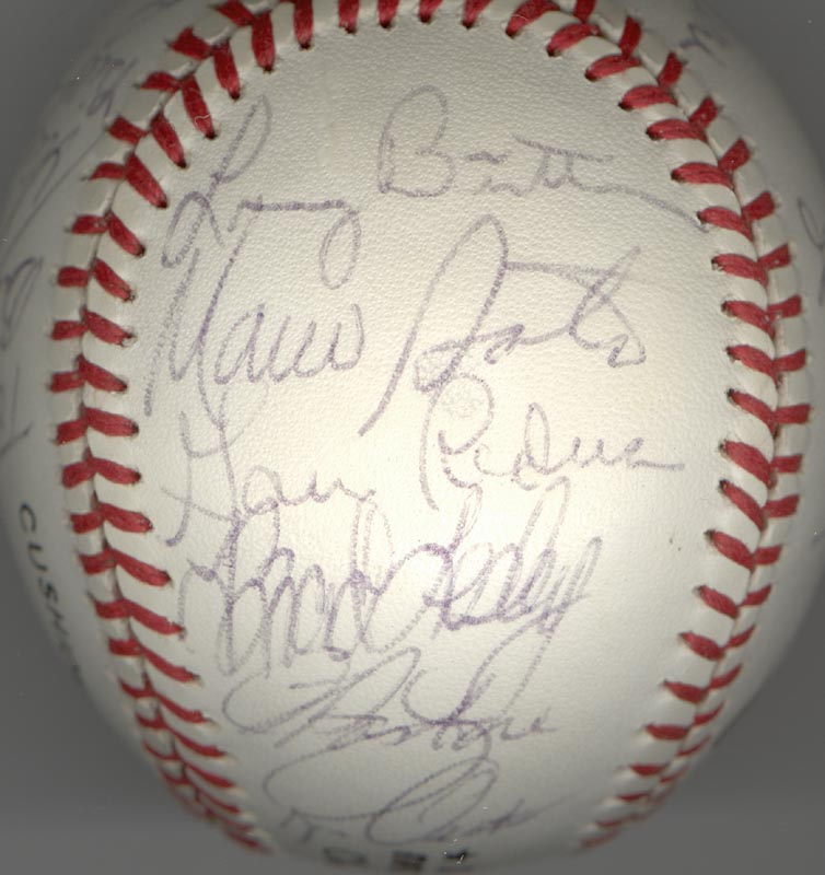 Image 5 for Cincinnati Reds - Autographed Signed Baseball Circa 1979 with co-signers - HFSID 137265