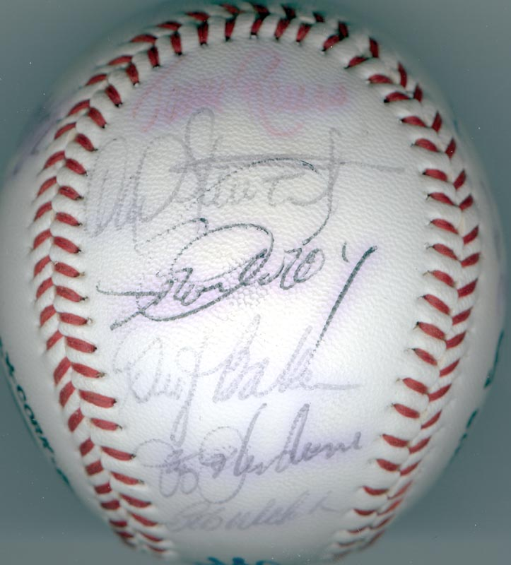 Image 3 for The Los Angeles Dodgers - Autographed Signed Baseball with co-signers - HFSID 137365