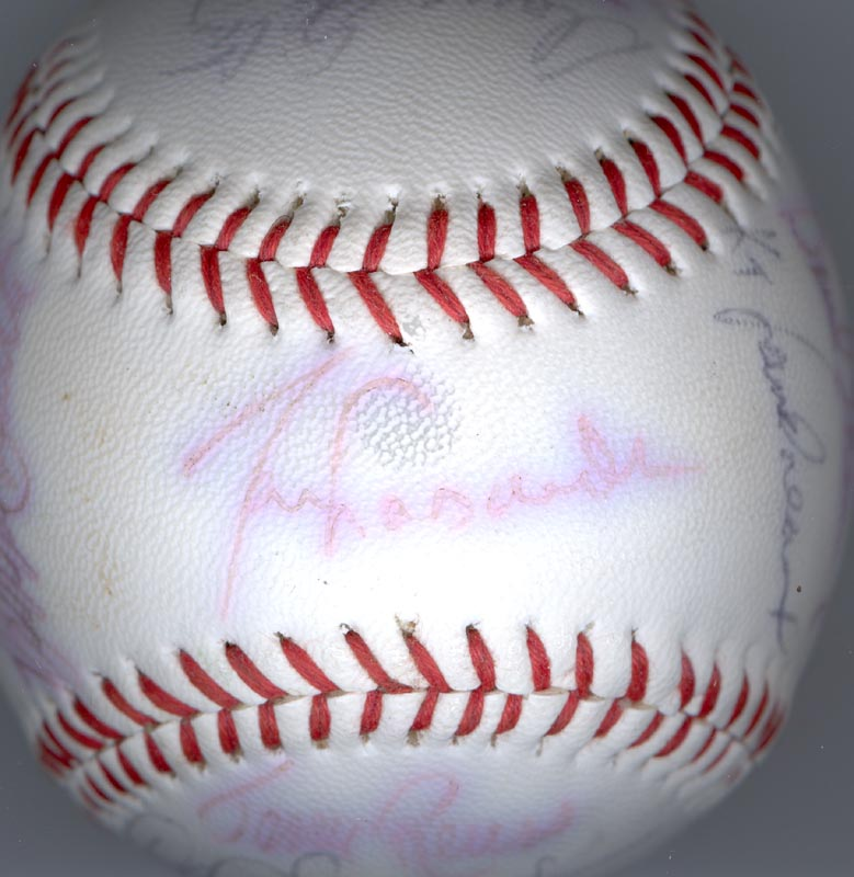 Image 6 for The Los Angeles Dodgers - Autographed Signed Baseball with co-signers - HFSID 137365