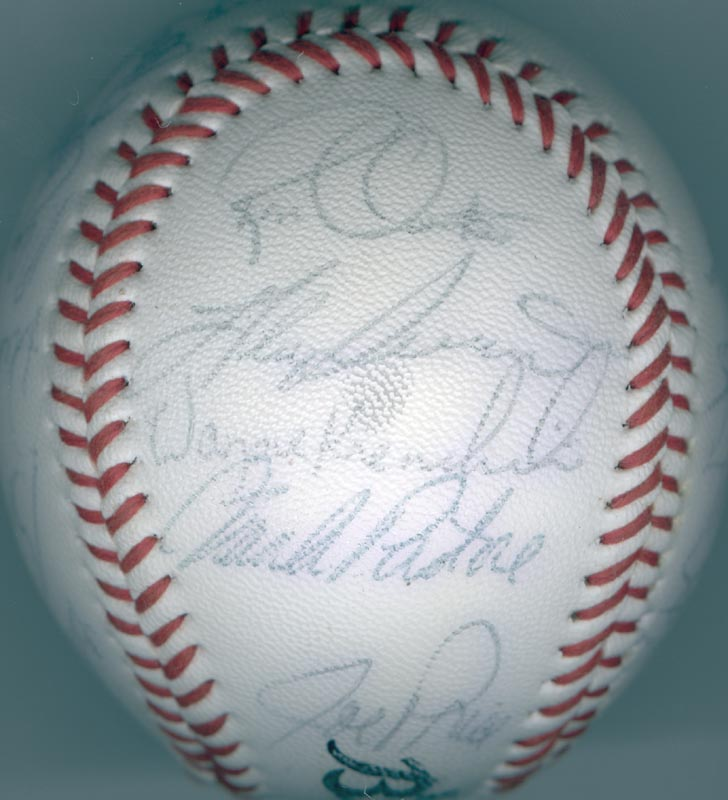 Image 6 for Cincinnati Reds - Autographed Signed Baseball with co-signers - HFSID 137367