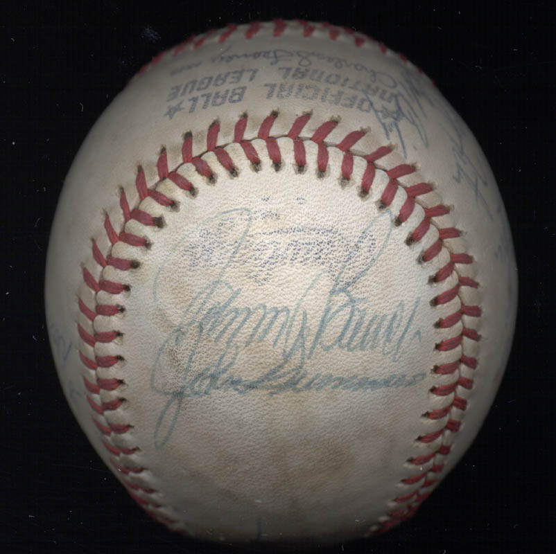 Image 4 for Cincinnati Reds - Autographed Signed Baseball with co-signers - HFSID 137382