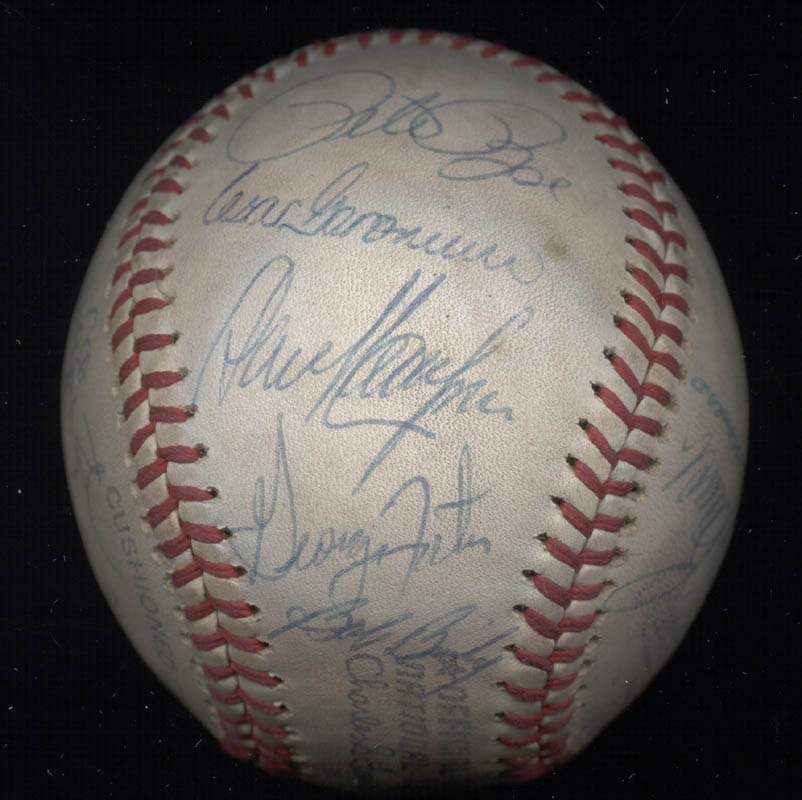 Image 5 for Cincinnati Reds - Autographed Signed Baseball with co-signers - HFSID 137382