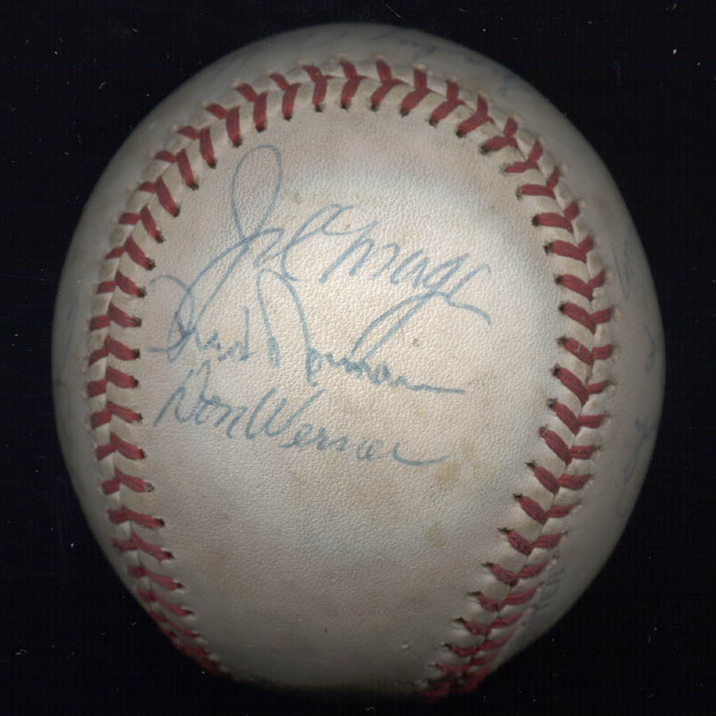 Image 6 for Cincinnati Reds - Autographed Signed Baseball with co-signers - HFSID 137382