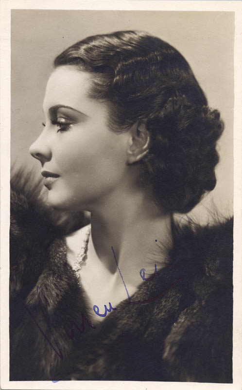 Image 1 for Vivien Leigh - Picture Post Card Signed - HFSID 137391
