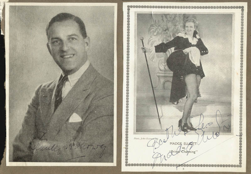 Image 1 for Stanley Holloway - Magazine Photograph Signed co-signed by: Madge Elliott, Dame Flora Robson - HFSID 137498