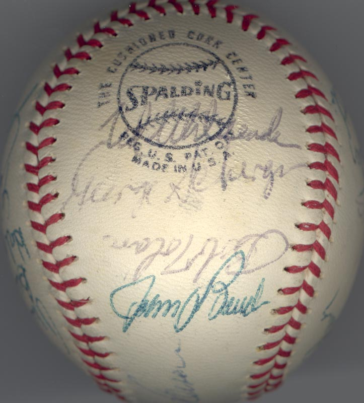 Image 3 for Cincinnati Reds - Autographed Signed Baseball Circa 1972 with co-signers - HFSID 137706
