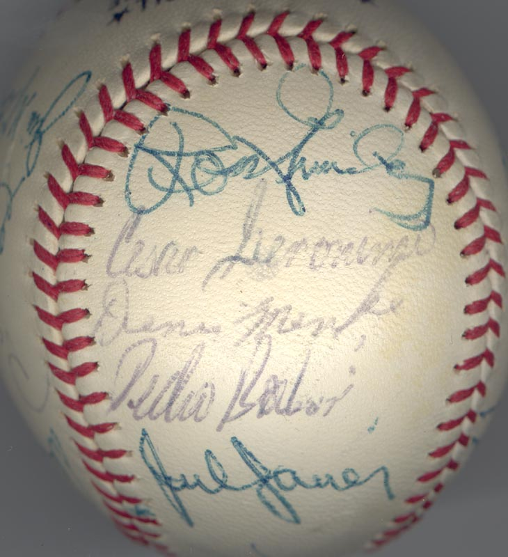 Image 4 for Cincinnati Reds - Autographed Signed Baseball Circa 1972 with co-signers - HFSID 137706
