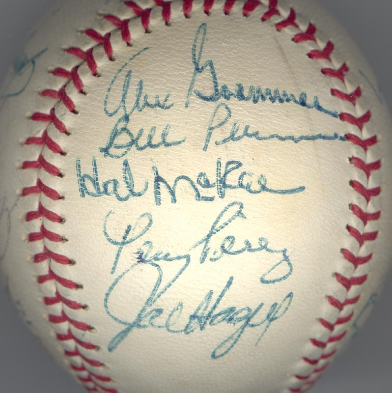 Image 5 for Cincinnati Reds - Autographed Signed Baseball Circa 1972 with co-signers - HFSID 137706