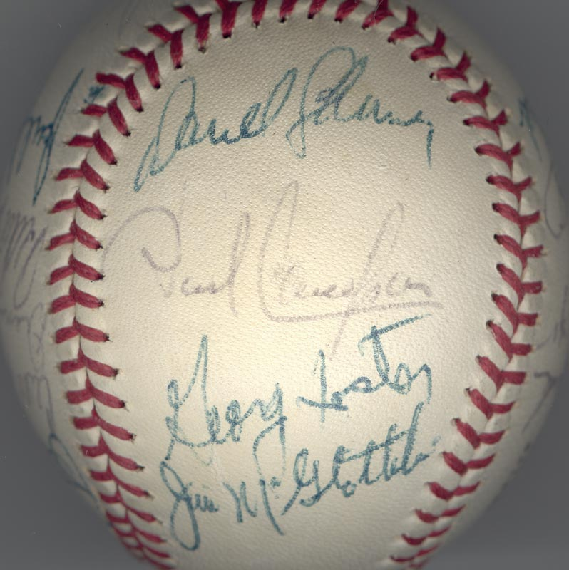 Image 6 for Cincinnati Reds - Autographed Signed Baseball Circa 1972 with co-signers - HFSID 137706