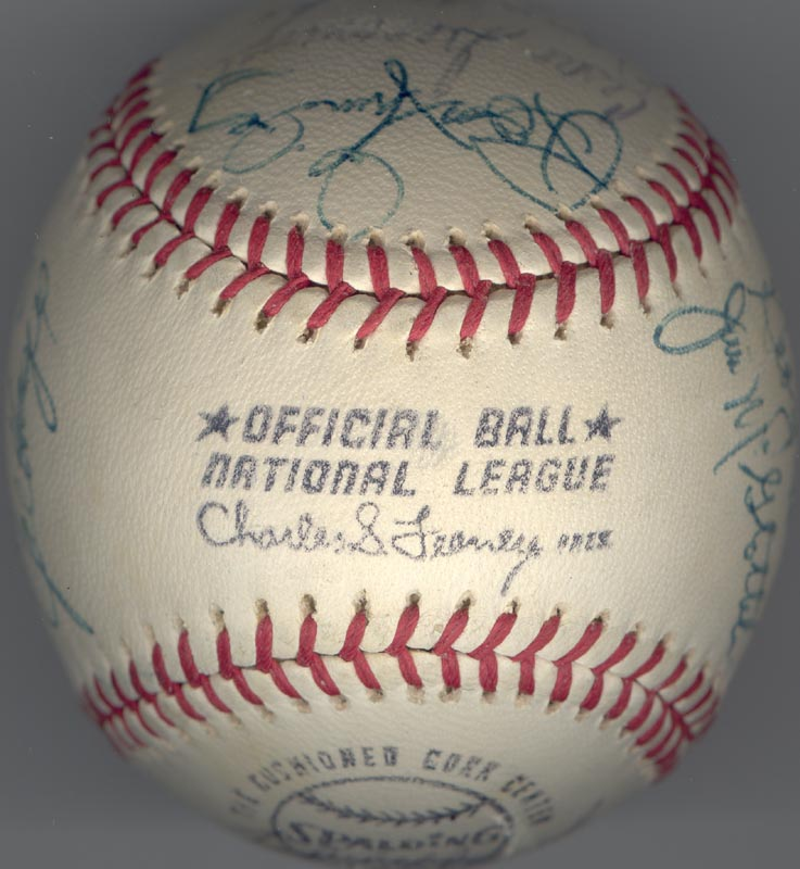 Image 7 for Cincinnati Reds - Autographed Signed Baseball Circa 1972 with co-signers - HFSID 137706