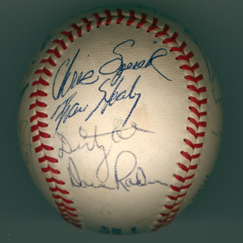 Image 4 for The San Francisco Giants - Autographed Signed Baseball Circa 1971 with co-signers - HFSID 137707