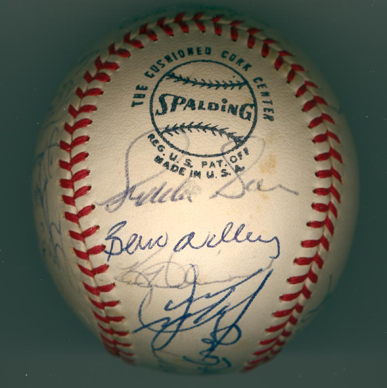 Image 6 for The San Francisco Giants - Autographed Signed Baseball Circa 1971 with co-signers - HFSID 137707