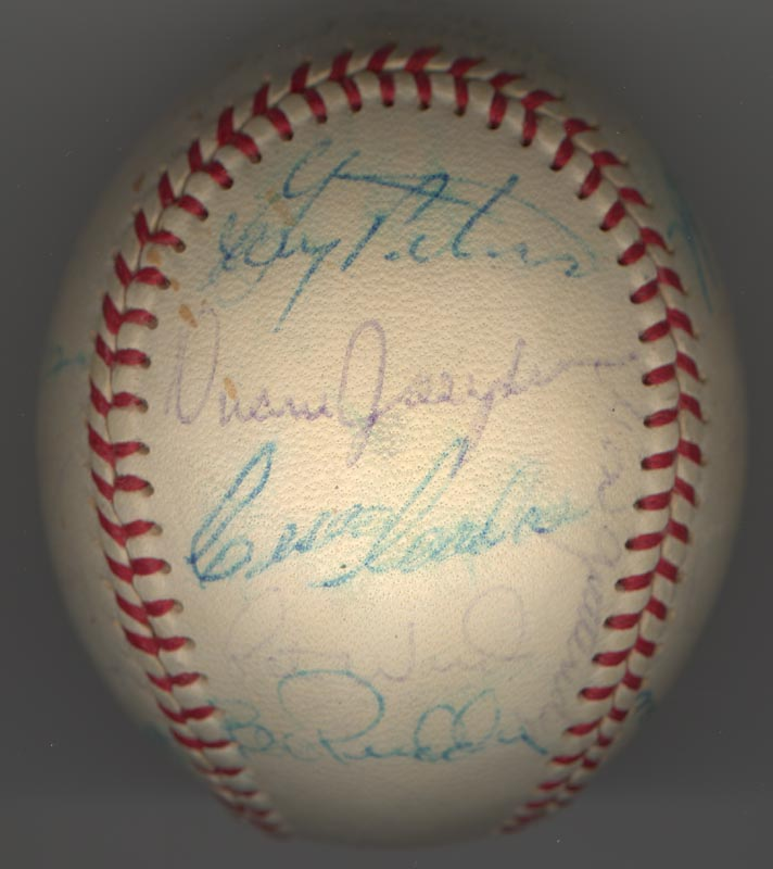 Image 1 for The Chicago White Sox - Autographed Signed Baseball Circa 1969 with co-signers - HFSID 137713