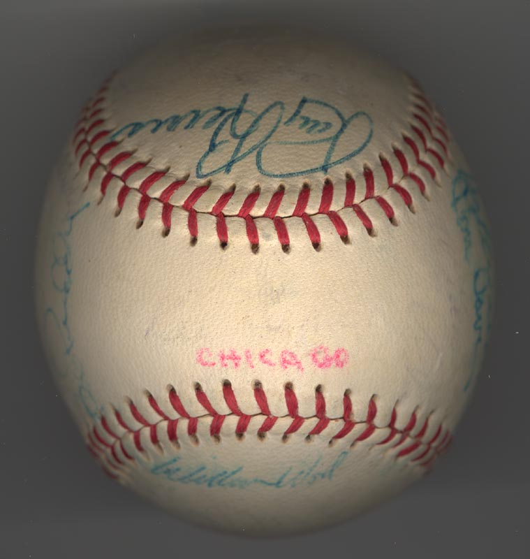 Image 6 for The Chicago White Sox - Autographed Signed Baseball Circa 1969 with co-signers - HFSID 137713