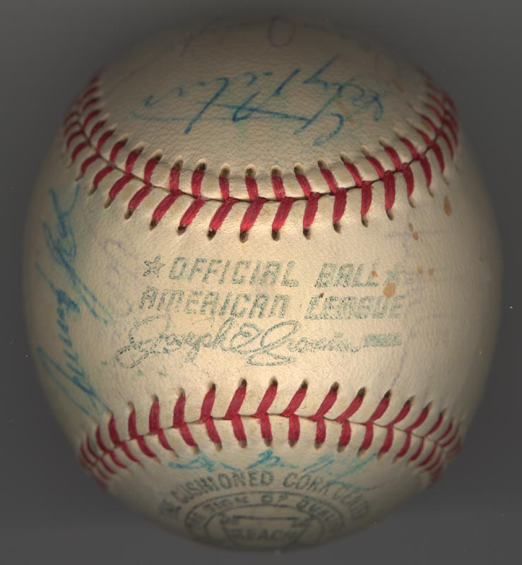 Image 7 for The Chicago White Sox - Autographed Signed Baseball Circa 1969 with co-signers - HFSID 137713