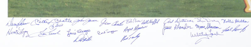 Image 3 for The 1961 New York Yankees - Printed Art Signed In Ink Circa 1990 with co-signers - HFSID 138683