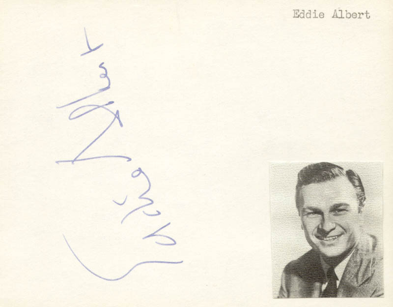 Image 1 for Eddie Albert - Autograph - HFSID 139