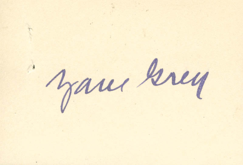 Image 1 for Zane Grey - Autograph - HFSID 140192