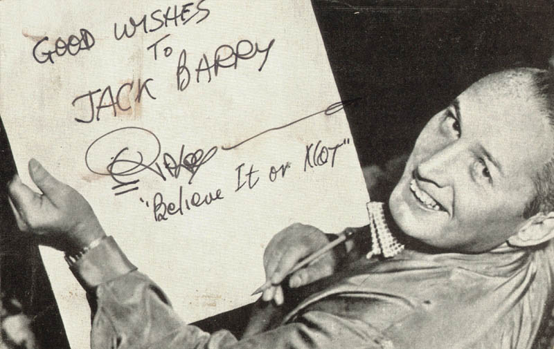 Image 1 for Robert 'Believe It Or Not!' Ripley - Inscribed Picture Postcard Signed - HFSID 140405