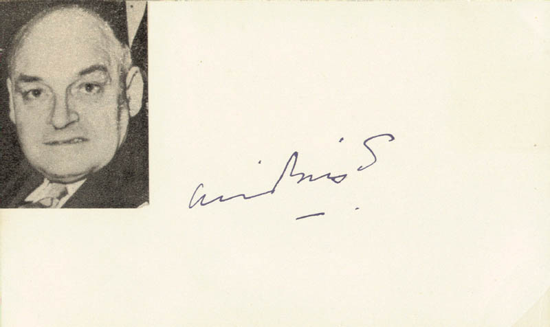 Image 1 for Sir Arthur Bryant - Autograph - HFSID 141838