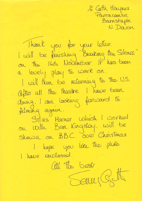 Image 1 for Jenny Agutter - Autograph Letter Signed - HFSID 141991
