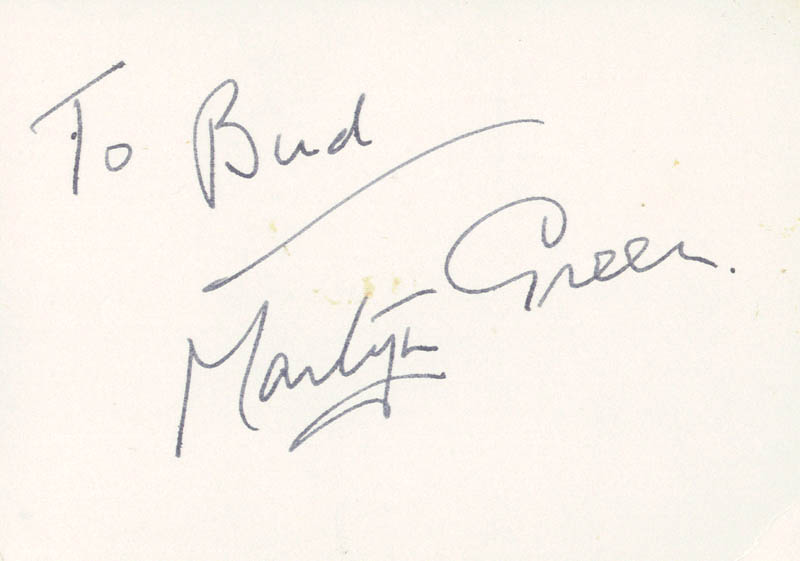 Image 1 for Martyn Green - Inscribed Signature - HFSID 142266
