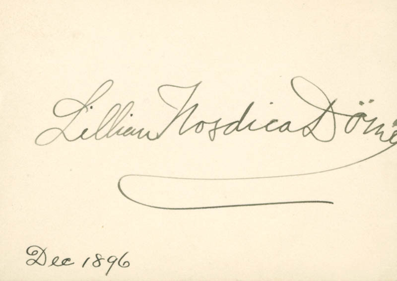 Image 1 for Lillian Nordica - Autograph 12/1896 - HFSID 142280