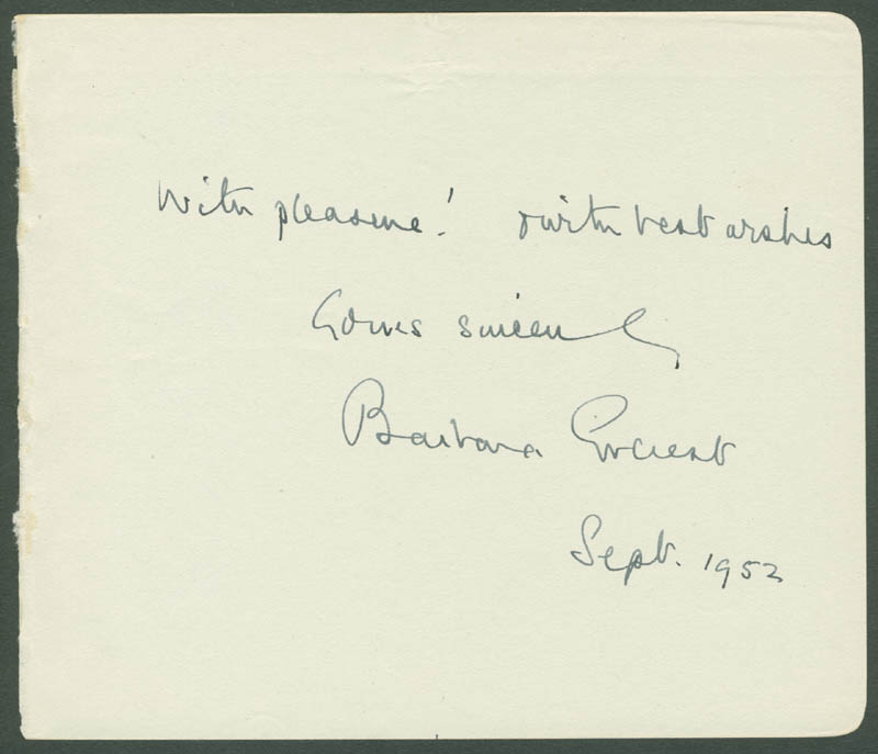 Image 1 for Barbara Everest - Autograph Sentiment Signed - HFSID 142350