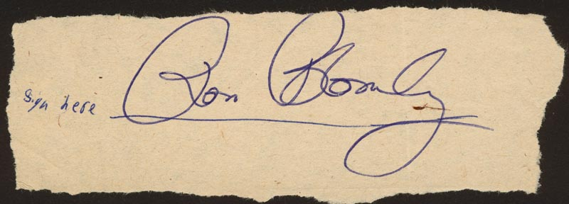 Image 1 for Ron Blomberg - Autograph - HFSID 142470
