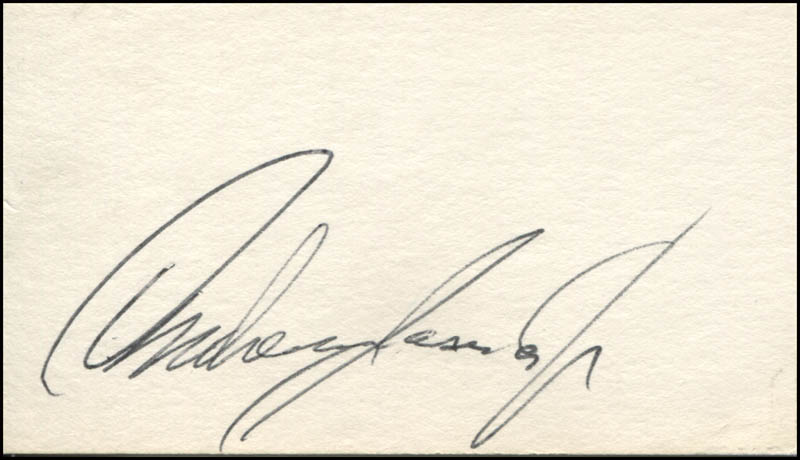 Image 1 for Andrew Jacobs Jr. - Autograph - HFSID 142518