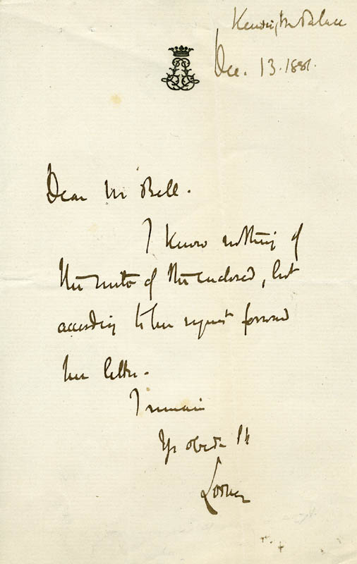 Image 1 for John (9th Duke Of Argyll) Campbell - Autograph Letter Signed 12/13/1887 - HFSID 142544