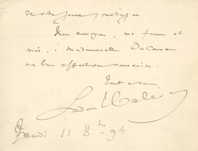 Image 1 for Ludovic Halevy - Autograph Letter Signed 11/08/1894 - HFSID 142550