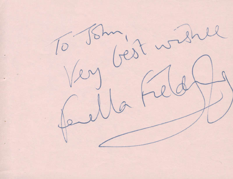 Image 1 for Fenella Fielding - Autograph Note Signed co-signed by: Caterina Valente - HFSID 142664