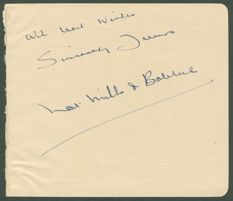 Image 1 for Nat Mills - Autograph Sentiment Signed - HFSID 142806